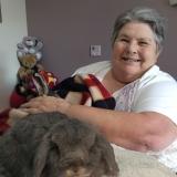 Bunny cuddles bring smiles to faces at Riversway Nursing Home