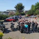 Birthday celebrations for biker Barry at Riversway