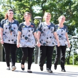 Care staff step out for health