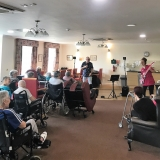 Ian rocks Springhill Care Home